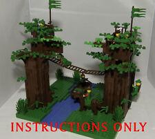 CUSTOM LEGO castle FORESTMEN SET INSTRUCTIONS ONLY