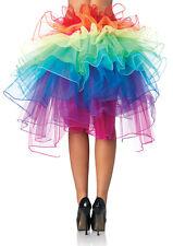 Hot Colorful Fluffy Tutu Lace Up Ballet Dance Rave Rainbow Sunshine Dress Skirt