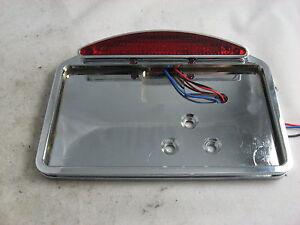 harley side mount license plate bracket taillight led chrome billet fxr dyna xlh
