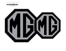 MG TF 2009 sur Badge Inserts Front grill Rear Boot badges 70 mm 90 mm Noir Argent