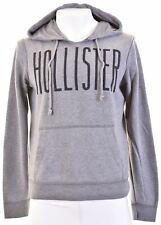 HOLLISTER Mens Hoodie Jumper Small Grey Cotton  HF04
