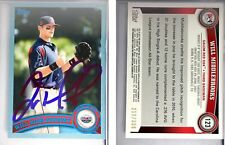 Will Middlebrooks Singed 2011 Topps Pro Debut Blue #123 Card Auto Autograph