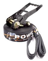 POWERLINE Slackline 50ft 2 Inch Wide Dynamic Webbing Treeguard Free Bag Ratchet