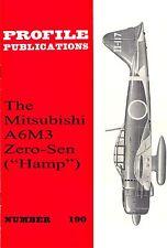 """MITSUBISHI A6M3 ZERO-SEN """"HAMP"""": PROFILE PUBS No.190/ NEW PRINT FACSIMILE ED."""