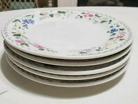 Set of 5 English Garden Farberware #225 Floral Stoneware Salad Plates 7.5""