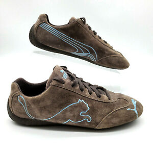 PUMA SPEEDCAT~Drift Chocolate Suede w/Embroidered Puma Driving Shoes ~US 9.5