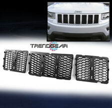 HONEYCOMB MESH GRILLE GRILL INSERT MATTE BLACK FOR 2014-2016 JEEP GRAND CHEROKEE