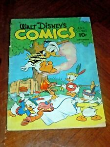 WALT DISNEY'S COMICS AND STORIES #24 (1942)  G-VG (3.0) cond. FLYING GAUCHITO