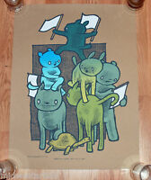 Jay Ryan Art Print Animals Poster There's No I in Turtle Serigraph S/# ed of 92