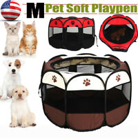 600D Pet Portable Play Pen Exercise Kennel Tent Dog Soft Playpen Cat Fold Crate