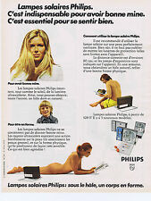 PUBLICITE ADVERTISING 064 1973 PHILIPS lampe solaire