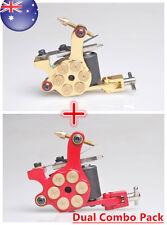 Revolver Bullet Tattoo Machine Cast Iron Gun Dual Combo Pack