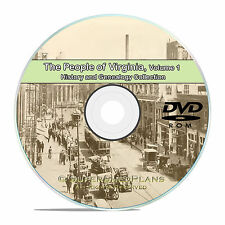 Virginia VA Vol 1 Civil War Family Tree History Genealogy 151 Books DVD CD B49