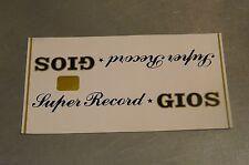 GIOS SUPER RECORD VINTAGE ~ 80's TOP TUBE Frame Sticker 1X NOS! BX13a