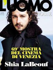 L'uomo Vogue Magazine September 2012, Shia LaBeouf  SEALED