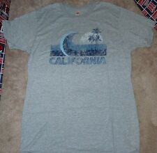NEW HANES Cali California Vintage Nano T Shirt Men L Large Grey Gray NIP