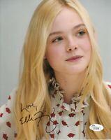 Elle Fanning autographed signed auto 8x10 portrait photo inscribed Love JSA COA