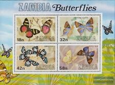Sambia block10 (complete issue) unmounted mint / never hinged 1980 Butterflies