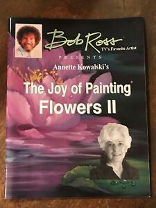 BOB ROSS Presents ANNETTE KOWALSKI's Book 2 JOY OF PAINTING FLOWERS 13 PAINTINGS