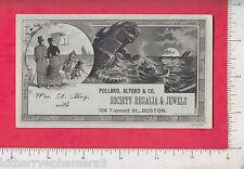 7892 Pollard, Alford, fraternal regalia jewels trade card William D. Hay Boston