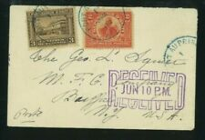 Haiti 1912 Cover Port au Prince to Buffalo, Ny franked Scott 126, 127