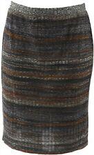 Logotipo Lori Goldstein IMPRESO RAYA Rib Knit Falda neutral Combo XXS NUEVO A282...