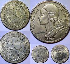 4 PIECES FRANCE  MARIANNE de LAGRIFFOUL  DIEUDONNE  PRE EURO  BRONZE