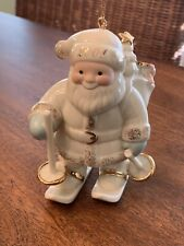 Lenox Santa's Downhill Delivery 2001 Annual Ornament Santa Skiing
