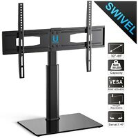 "Table Top Swivel TV Stand With Mount For 32"" 37"" 45"" 50"" 55"" 60"" Flat Screen"