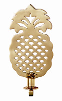 "WALL SCONCES - ""WILLIAMSBURG"" PINEAPPLE SOLID BRASS WALL SCONCE - 10.5""H"