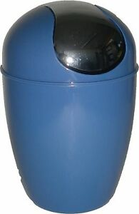 Evideco Round Waste Basket Trash Can Mini 0.3 Gal or 1.2-gal Shiny color