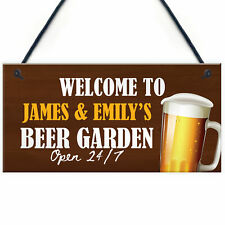 Man Cave Bar Pub Sign Personalised Beer Garden Plaque Alcohol Gift For Him