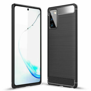 For Samsung Galaxy A12 / 5G Carbon Fibre Soft Protective Shockproof Case Cover