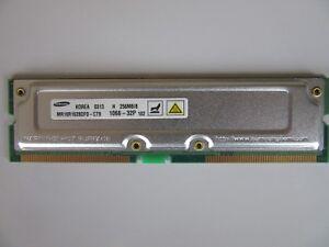 Samsung MR16R1628DF0-CT9 Non-ECC RDRAM PC1066-32P 184 Pin RAMBUS 256MB Memory