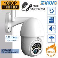 Dome Camera WiFi PTZ Pan Tilt 1080P HD Security IP IR Camera Night Vision Swivel