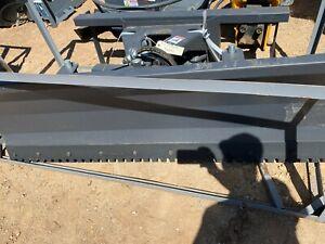 "NEW JCT 72"" Snow Dirt Plow 6 Way Skidsteer Hydraulic Dozer Blade fits Bobcat CAT"