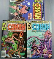 Group of 3 Marvel Comics CONAN The Barbarian #112 #134 #136