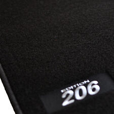 TAPIS SOL MOQUETTE LOGO BLANC SPECIFIQUE PEUGEOT 206 & 206SW TOUTES LES ANNEES