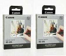 2 x Canon XS-20L Color Ink & Label Photo Paper (20pcs) for SELPHY SQUARE QX10