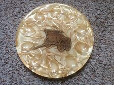 Vintage Lucite Trivet From Colorflo Riverside, Ca. Encased Wagon & Straw Rare