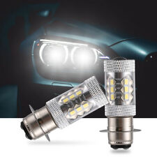 2 Pcs Yamaha H6 80W motorcycle Super HID White LED Headlights Bulbs Upgrade