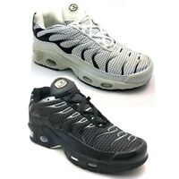 NEW MENS BOYS CHILDREN SPORTS RUNNING TRAINERS LACE UP BLACK SHOES SIZE 46 F299K