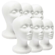 White Foam Maniquin Head Wigs Caps Glasses Hat Display Stand Female Model