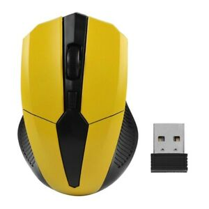 Portable 2.4Ghz Wireless Mouse Adjustable 1200DPI Optical Wireless Gaming Mouse
