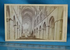 1870s CDV Carte De Visite Photo Chichester Cathedral Interior Russell & Sons