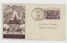 Mr Fancy Cancel Sc 775 Michigan 11/1/35 First Day Cover #3095