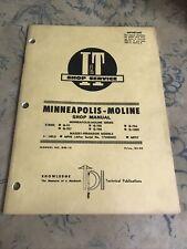 Minneapolis Moline Iampt Shop Service Manual G Vi 707 G705 G708 G706 G1000 Mf95 97