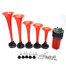 125db 12V 5 Red Tube Air Horn Dukes of Hazzard General Lee For Car Boat Reliable
