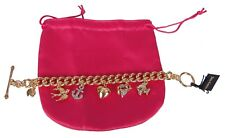 JUICY COUTURE CRYSTAL PAVE SAILOR GIRL CHARM BRACELET BRAND NEW TAGS BOX POUCH