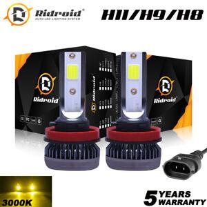 Mini 3000K Yellow H11 H9 H8 LED Headlight High Low Beam Fog Light Conversion Kit